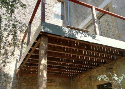Terrasse Suspendue Structure Douglas Terrasse Padouk Bois Maxwood Luxembourg Specialiste Construction Bois Ossature Virton 400x284, MaxWood | Construction en bois
