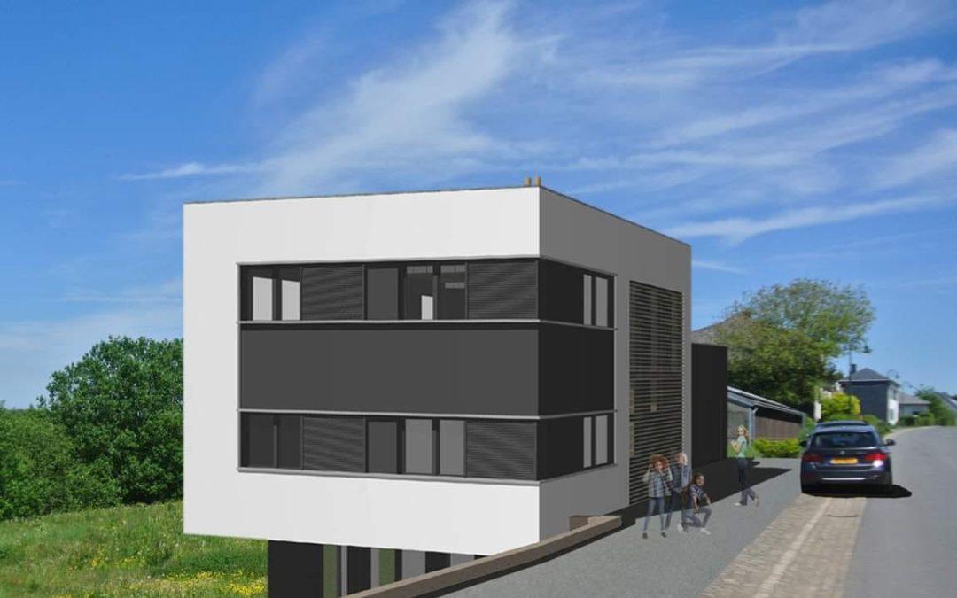 Construction d'une maison ossature bois à Baschleiden