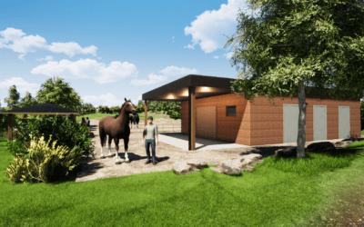 Construction d'une écurie pour chevaux en ossature bois
